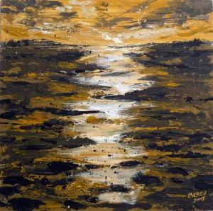 Reflejos dorados en los arrozales 47x47