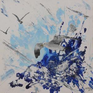 Vols en blau 2 50x50